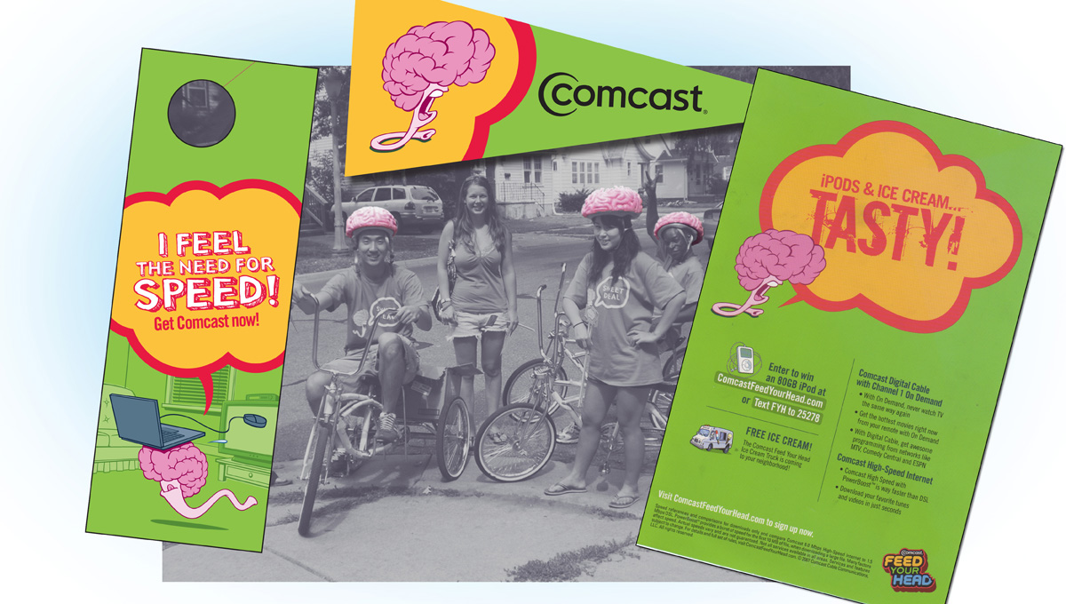 Comcast Cable – Feed Your Head College Marketing Campaign