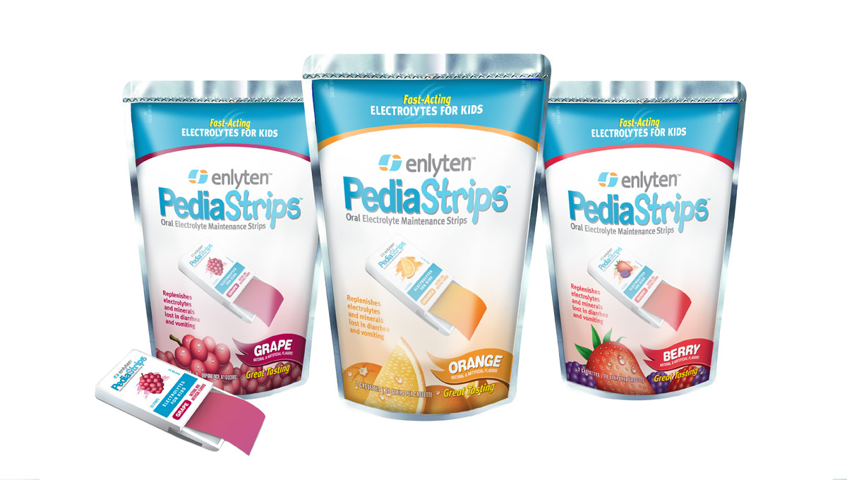 Enlyten PediaStrips – Retail Packaging